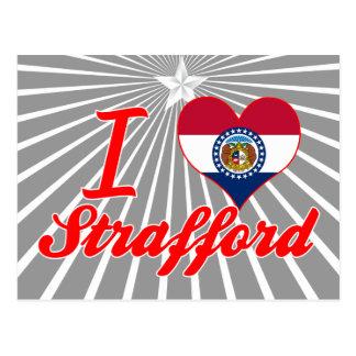 I Love Strafford, Missouri Postcard