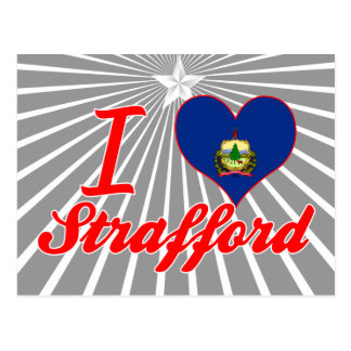 I Love Strafford, Vermont Postcard
