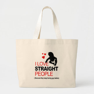 I Love Straight People Tote Bags