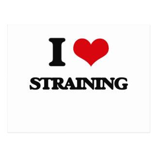 I love Straining Postcard