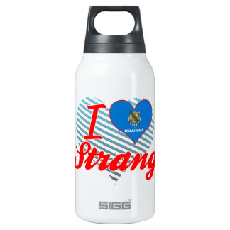 I Love Strang, Oklahoma 10 Oz Insulated SIGG Thermos Water Bottle