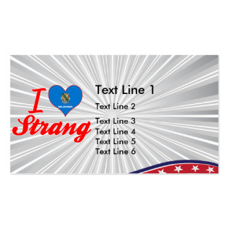 I Love Strang, Oklahoma Double-Sided Standard Business Cards (Pack Of 100)