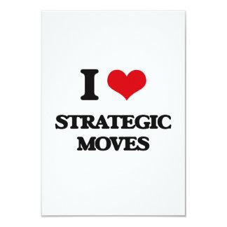 "I love Strategic Moves 3.5"" X 5"" Invitation Card"