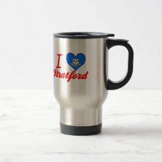I Love Stratford, Connecticut 15 Oz Stainless Steel Travel Mug