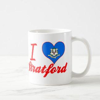 I Love Stratford, Connecticut Classic White Coffee Mug