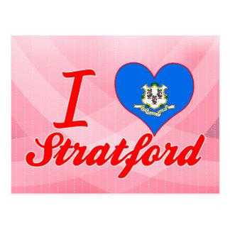 I Love Stratford, Connecticut Postcard