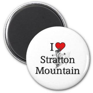 I love Stratton Mountain 2 Inch Round Magnet