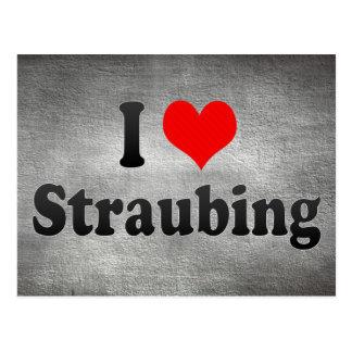 I Love Straubing, Germany Postcard