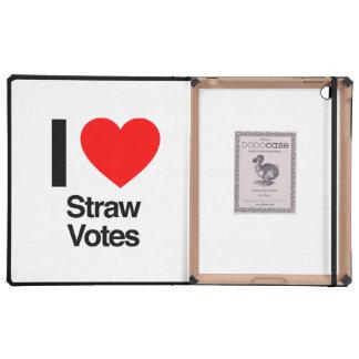 i love straw votes iPad case