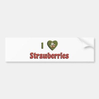 I Love Strawberries Bumper Sticker