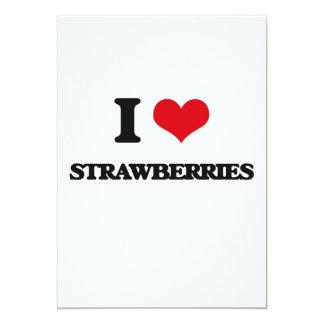 "I love Strawberries 5"" X 7"" Invitation Card"