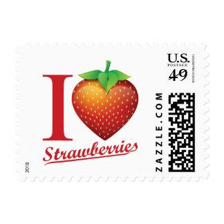 I Love Strawberry Postage
