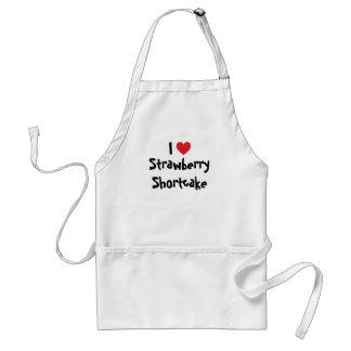 I Love Strawberry Shortcake Adult Apron