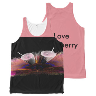I Love Strawberry tank top All-Over Print Tank Top