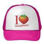 I Love Strawberry Trucker Hat