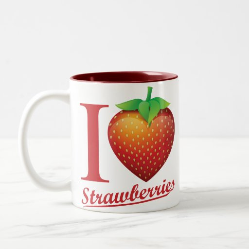 I Love Strawberry Two-Tone Coffee Mug