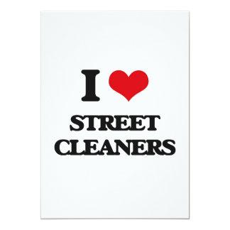 I love Street Cleaners 5x7 Paper Invitation Card