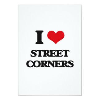 I love Street Corners 3.5x5 Paper Invitation Card