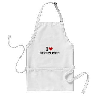 I love street food adult apron