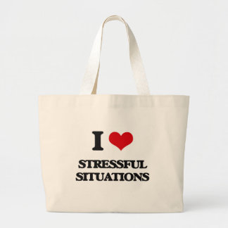 I love Stressful Situations Jumbo Tote Bag