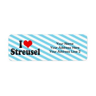 I Love Streusel Return Address Label