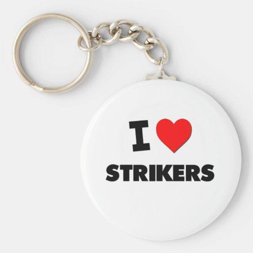 I love Strikers Basic Round Button Keychain
