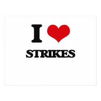 I love Strikes Postcard