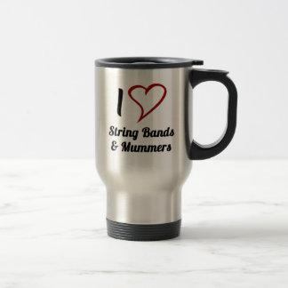 I Love String Bands & Mummers Travel Mug
