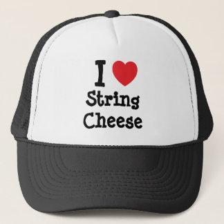 I love String Cheese heart T-Shirt Trucker Hat