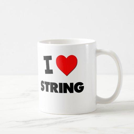 I love String Classic White Coffee Mug
