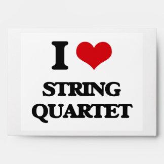 I Love STRING QUARTET Envelope
