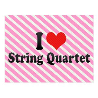 I Love String Quartet Postcards
