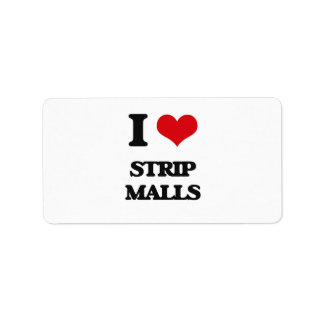 I love Strip Malls Address Label