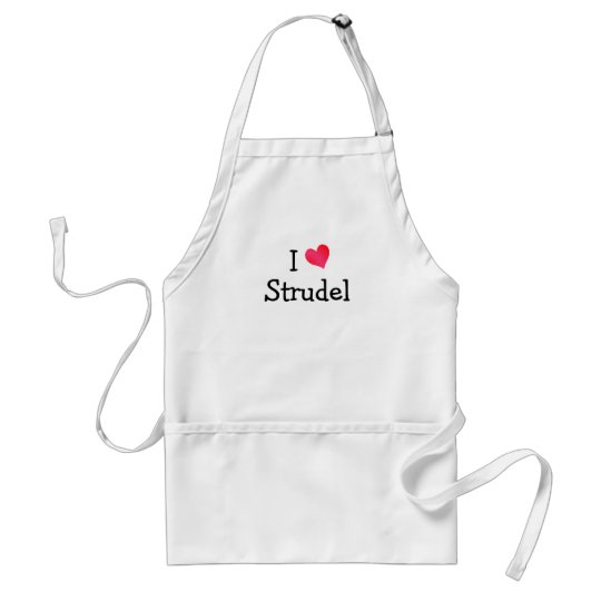 I Love Strudel Adult Apron