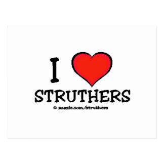 I Love Struthers Postcard