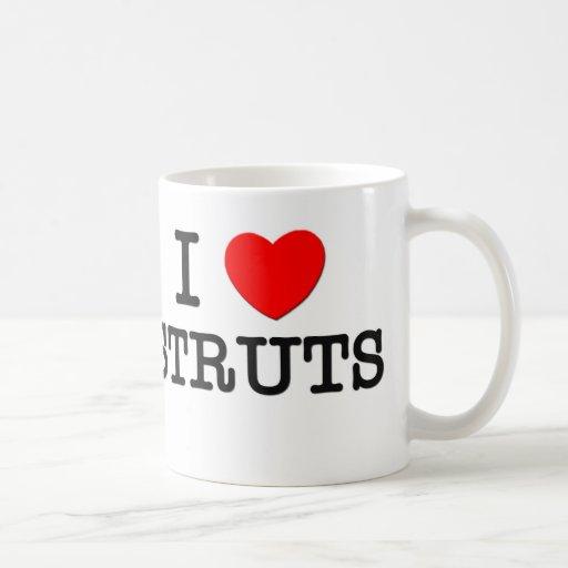 I Love Struts Mugs