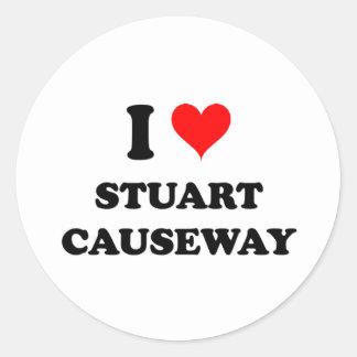 I Love Stuart Causeway Florida Sticker