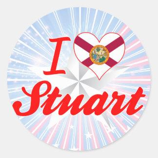 I Love Stuart, Florida Stickers