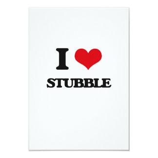 "I love Stubble 3.5"" X 5"" Invitation Card"