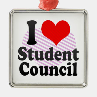 I love Student Council Metal Ornament