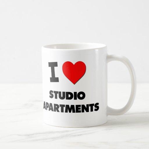 I love Studio Apartments Classic White Coffee Mug