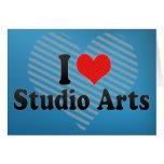 I Love Studio Arts Card