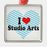 I Love Studio Arts Christmas Ornament