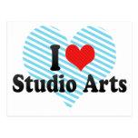 I Love Studio Arts Postcard