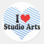 I Love Studio Arts Stickers