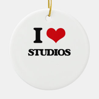 I love Studios Double-Sided Ceramic Round Christmas Ornament