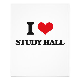 I love Study Hall Full Color Flyer