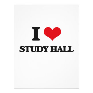 I love Study Hall Custom Flyer