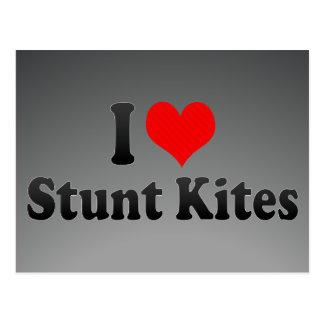 I love Stunt Kites Postcard