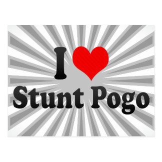 I love Stunt Pogo Post Card